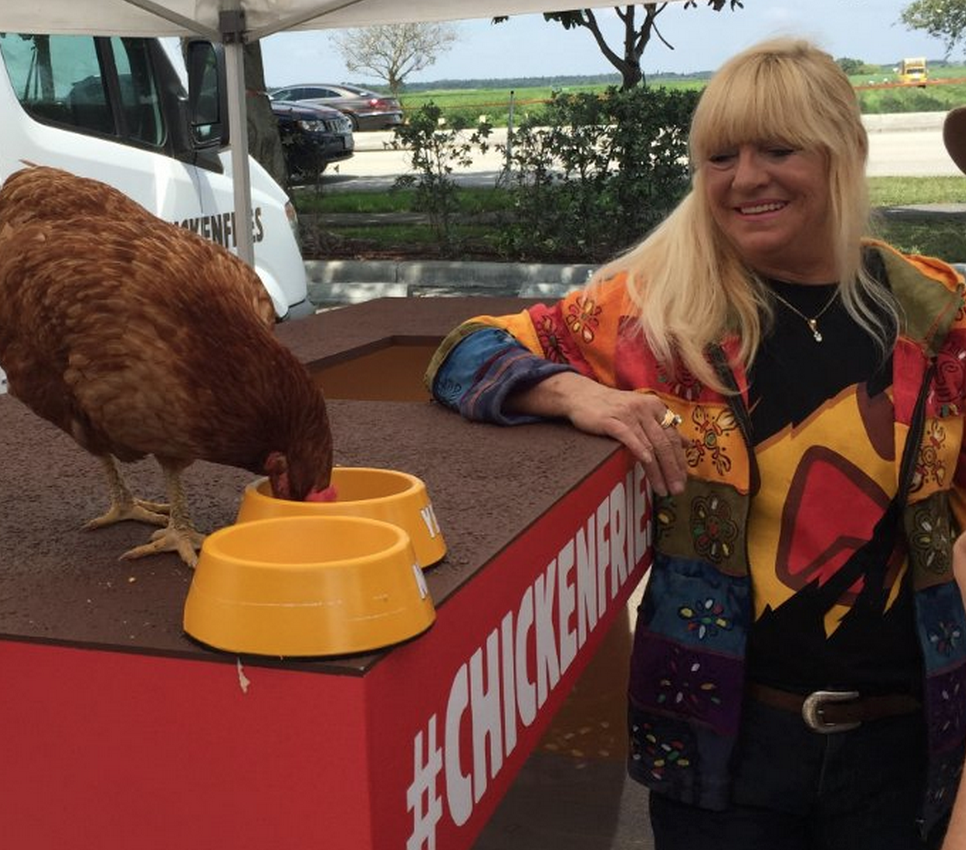 Burger King is sending a live chicken named Gloria on a nationwide tour to promote Chicken Fries.