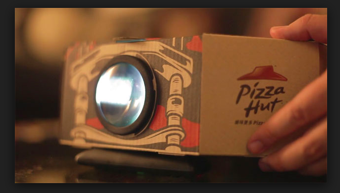 Pizza Hut's New Box Doubles as Movie Projector